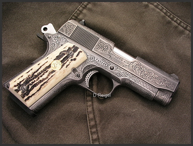 Hand Engraved Colt Officers Model 1911