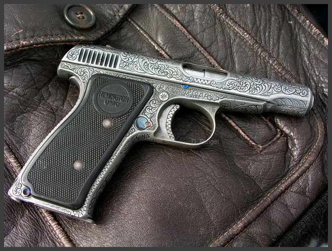 Hand Engraved Remington Model 51 Pistol
