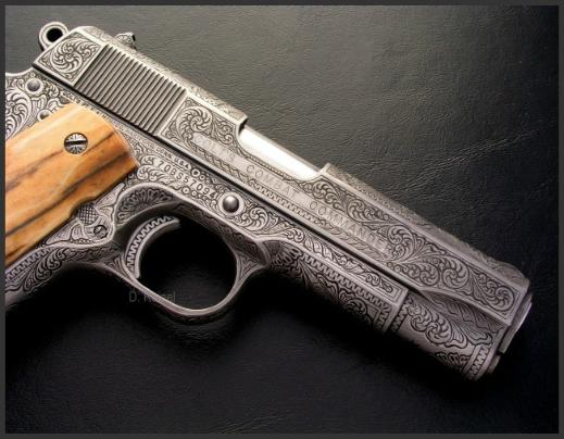 Engraved Colt Commander, Reigel Gun Engraving