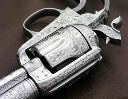 Colt Bisley model 38 LC 1912, right frame, by reigelgunengraving.com
