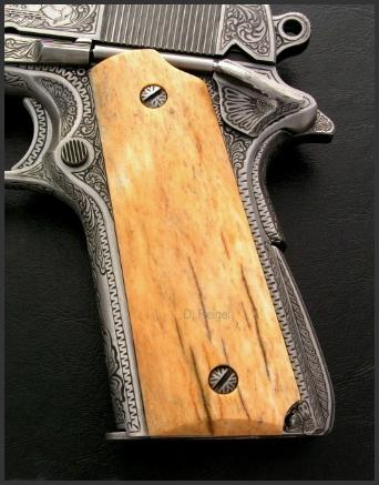Engraved Colt Model 1911, Reigel Gun Engraving