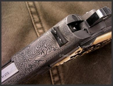 Hand Engraved Colt Mark IV Series 80 Officers ACP