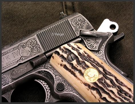 Hand Engraved Colt Mark IV Series 80 Officers Model