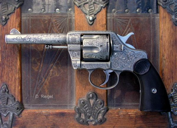 Engraved Colt 1892 New Army, reigelgunengraving.com