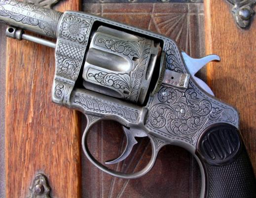 Colt Model 1892 New Army Navy, engraved by Reigel Gun Engraving