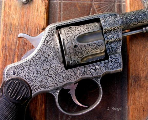 Engraved Colt Model 1892 d.a. New Army Navy Civilian, reigelgunengraving.com