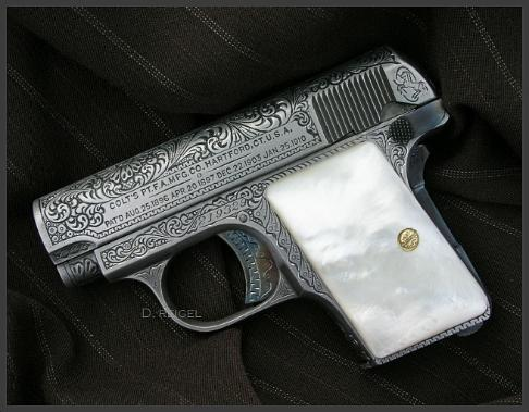 Hand Engraved Colt Model 1908 Vest Pocket Hammerless