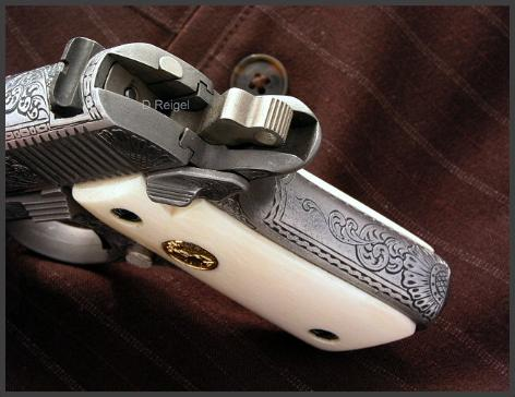 Engraved Colt Mustang 380