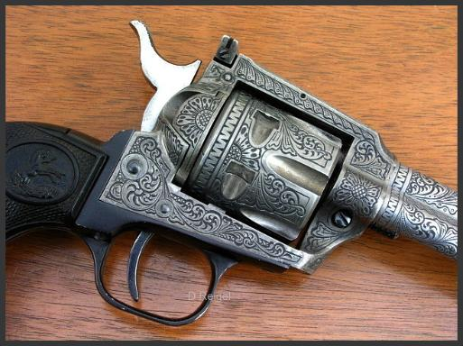 Hand Engraved Colt New Frontier