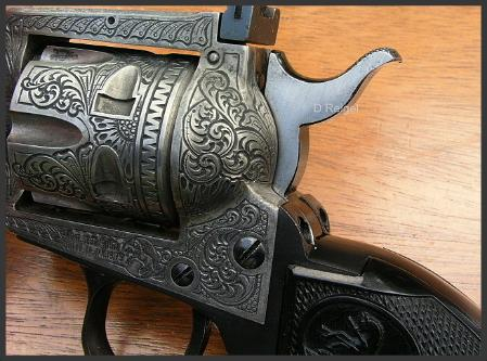 Engraved Colt New Frontier Pistol .22