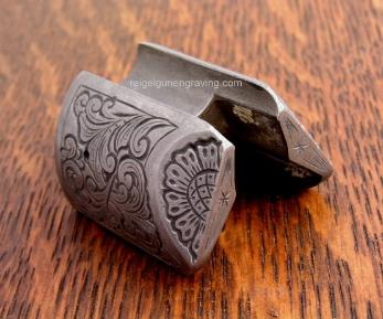 Lyman Great Plains Rifle Nose Cap engraved by reigelgunengraving.com