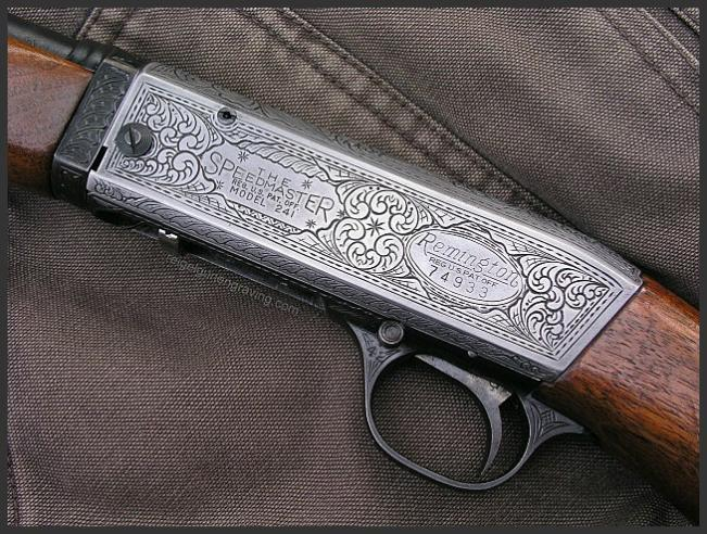 Engraved Remington Speedmaster, by Reigel Gun Engraving