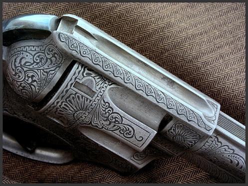 Hand Engraved Ruger Speed Six