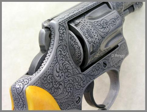 Hand Engraved S&W .38 Chiefs Special Model 36