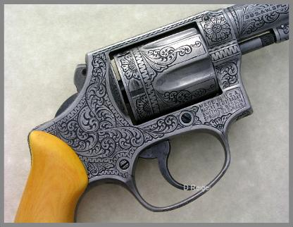 Hand Engraved S&W Chiefs Special .38 Model 36