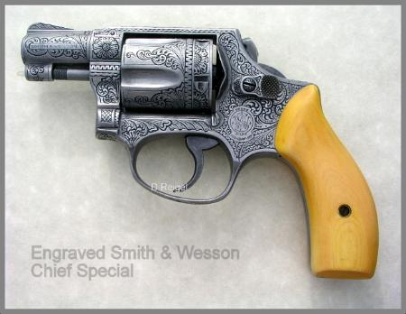Engraved Smith & Wesson Chief Special