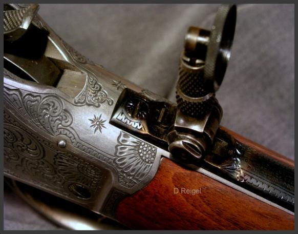 Engraved Winchester 1885 High Wall Rifle