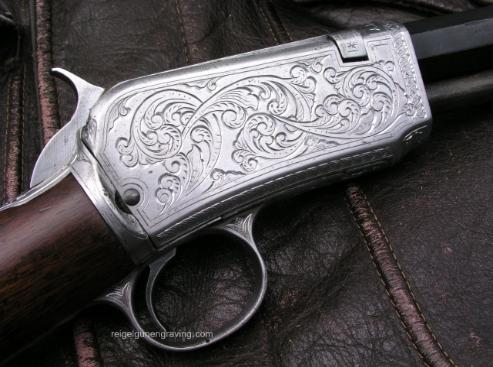 Engraved Winchester Model 1890, reigelgunengraving.com