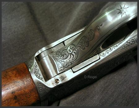 Engraved Winchester High Wall Rifle