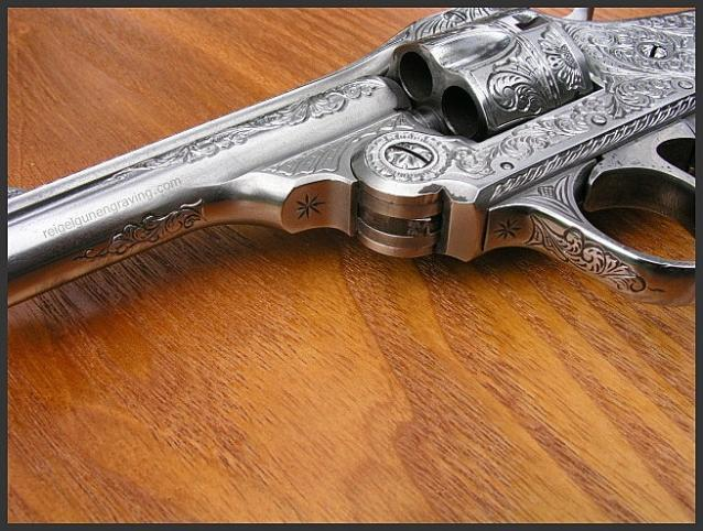 Engraved Iver Johnson 32 S&W Top Break Revolver, by Reigel Gun Engraving