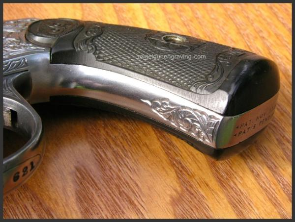 Engraved Top Break Revolver 32, by Reigel Gun Engraving