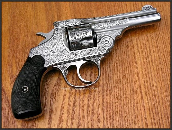Iver Johnson Top Break Revolver, by Reigel Gun Engraving