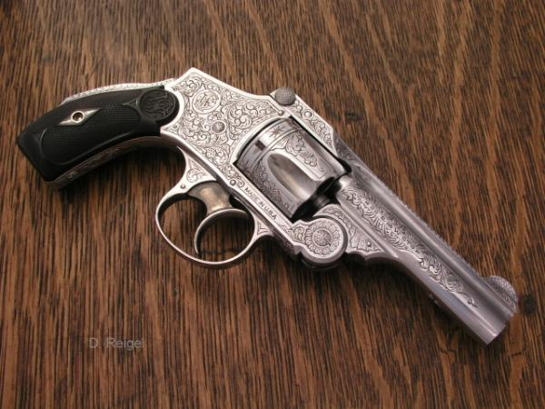 Smith and Wesson Safety Hammerless .38 Revolver by reigelgunengraving.com