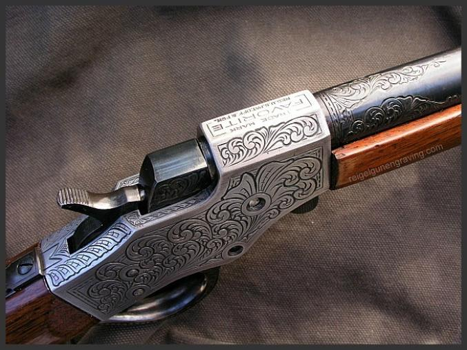 Engraved Steven Favorite, Reigel Gun Engraving